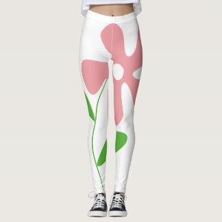 Leggings flor rosada