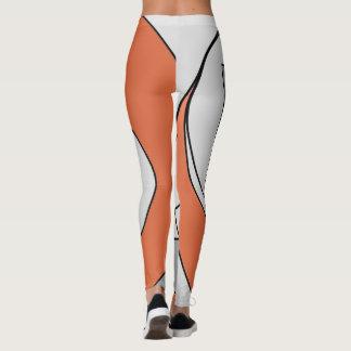 Leggings Formas grises y anaranjadas