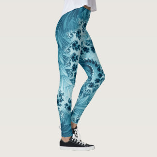 Leggings Fractal espiral azul