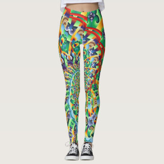 Leggings Fuego artificial de giro
