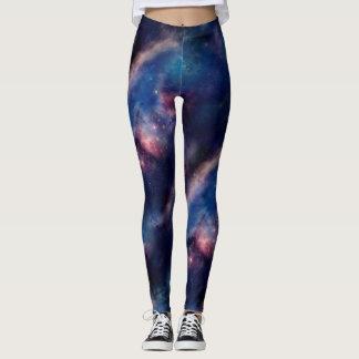Leggings Galaxia púrpura tejada