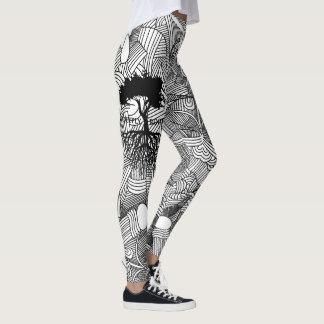 Leggings Golpeteo abstracto arraigado profundamente
