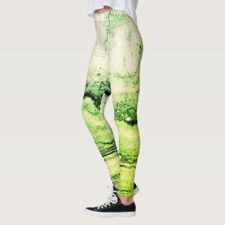 Leggings Granito verde abstracto