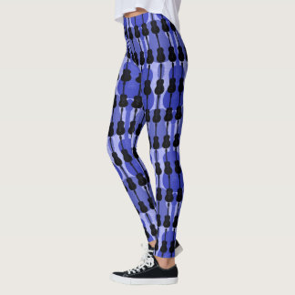 Leggings Guitarra azul y negra