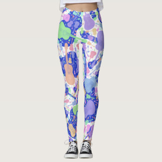 Leggings Guitarra coloreada multi