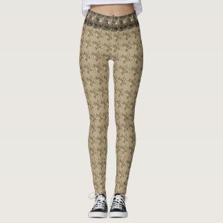 Leggings Hipster-Evening-Lounge-Golden-Roses_XS-XL