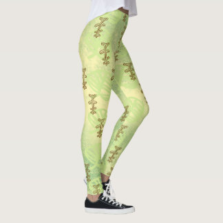 Leggings hoja amarillo