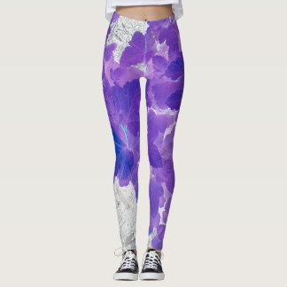 Leggings Hojas púrpuras