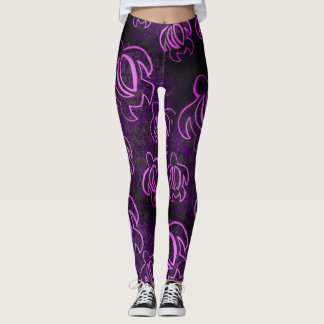 Leggings Honu púrpura eléctrico