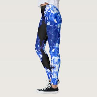Leggings Hydrangea del cobalto