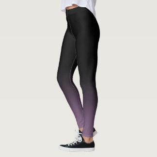 Leggings La pendiente púrpura negra de la mora se descolora