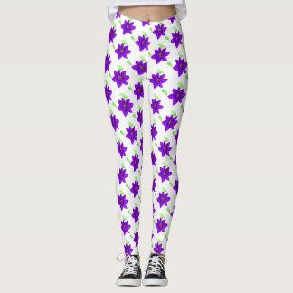 Leggings La púrpura preciosa florece las polainas