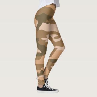 Leggings Las polainas/los militares de Brown Camo camuflan