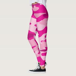 Leggings Las polainas/los militares rosados de Camo