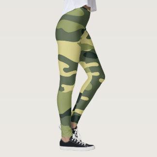 Leggings Las polainas/los militares verdes de Camo camuflan