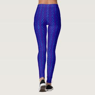 Leggings Las tijeras azules y púrpuras/Scissor rayas