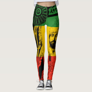 Leggings León de las polainas de Haile Selassie del diseño