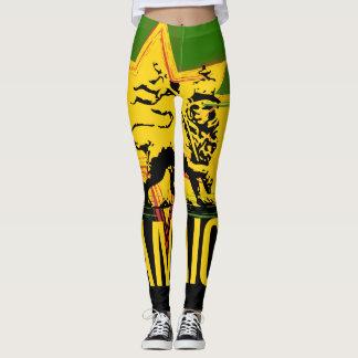Leggings León jamaicano de las polainas del diseño de Judah