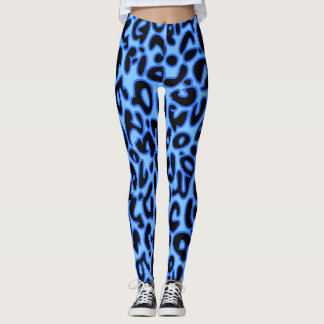 Leggings Leopardo azul