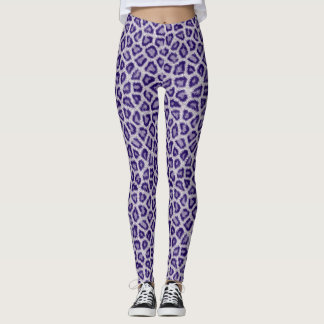Leggings Leopardo azul