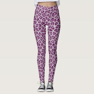 Leggings Leopardo púrpura