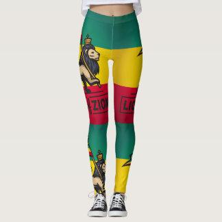 Leggings Lion of Zion Ir - Rastafari Power yoga -