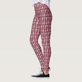 Leggings Llaves color de rosa oscuras del Victorian