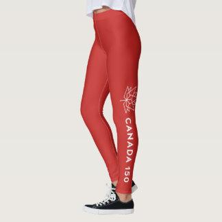 Leggings Logotipo del funcionario de Canadá 150 - rojo y