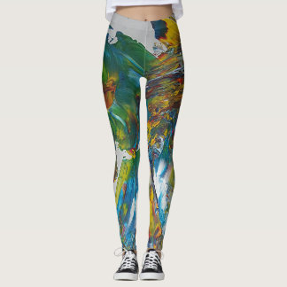 Leggings Loro abstracto