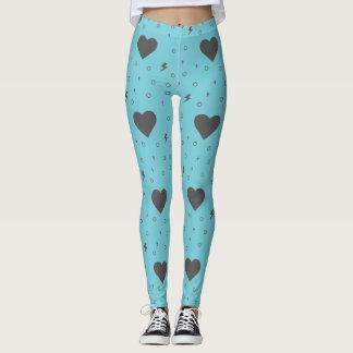 Leggings Los corazones modelan en las polainas azules