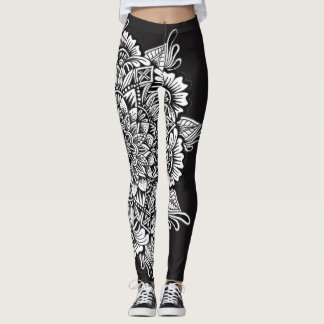 Leggings Mandala blanco y negro