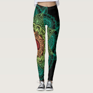 Leggings Mandala de neón