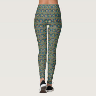 Leggings Mandala preciosa Forest Green DIY geométrico