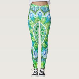 Leggings Mandala verde abstracta creada para requisitos