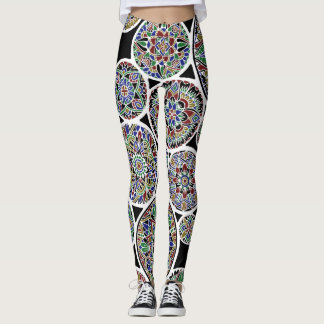 Leggings Mandalas reales invertidas