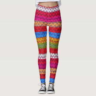 Leggings Mirada colorida #5 de la arpillera del modelo de