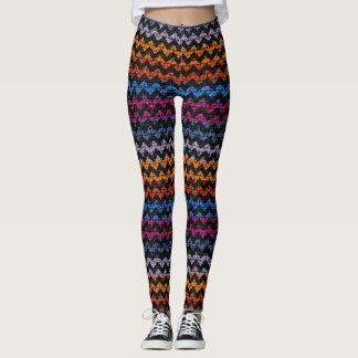 Leggings Mirada colorida de la arpillera del modelo de