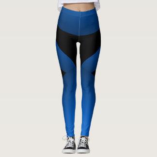 Leggings Moda deportiva del negro azul que adelgaza los