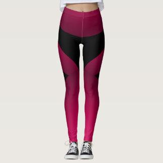 Leggings Moda deportiva negra rosada que adelgaza danza de