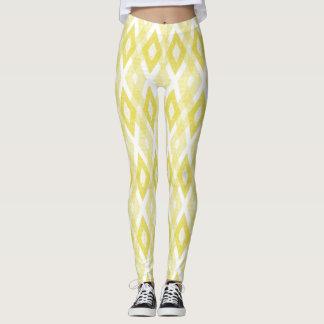 Leggings Modelo amarillo brillante del Harlequin del Grunge