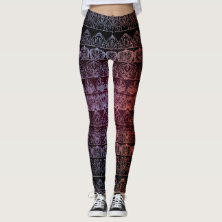 Leggings Modelo antiguo real de lujo floral