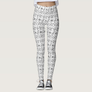 Leggings modelo blanco y negro