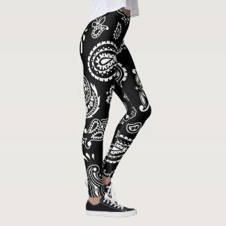Leggings Modelo blanco y negro