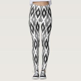 Leggings Modelo blanco y negro del Harlequin del Grunge
