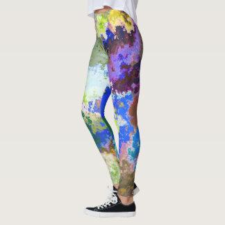 Leggings Modelo colorido abstracto de la pintura
