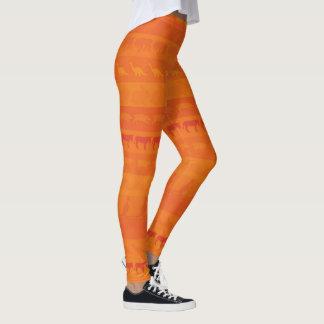 Leggings Modelo colorido retro #9 de los animales