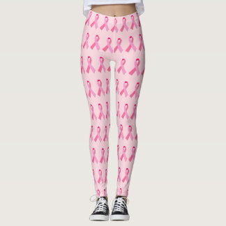 Leggings Modelo de alternancia de la cinta rosada en rosa