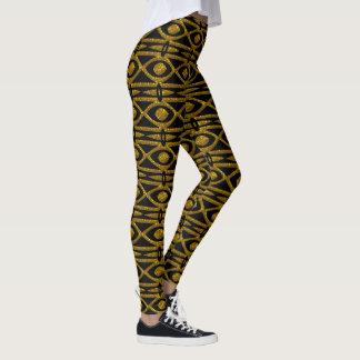 Leggings Modelo egipcio en negro y oro