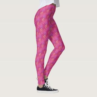 Leggings Modelo geométrico colorido en la magenta -