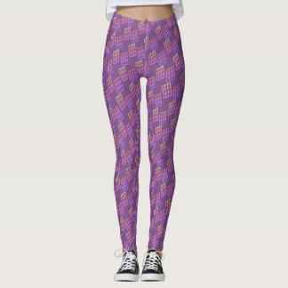 Leggings Modelo geométrico colorido en púrpura -